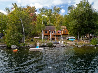 Photo for Fun/ Beautiful Rustic Cottage with conveniences in  Magical Beech Hill Pond/Dock