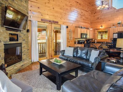 Photo for Smokies Escape-Luxury Cabin, 2bd/2bath,Queen Bed in Loft,Gated, Pools, Mini-Golf