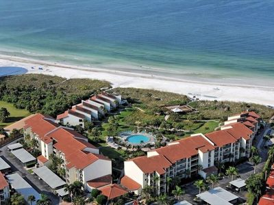 Arial view of Siesta Dunes - right on the beach!