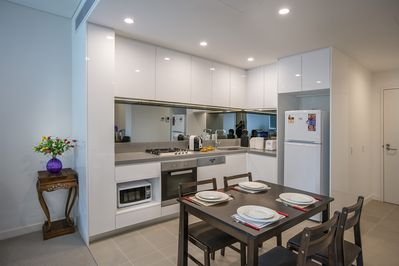 Fully equipped and contemporary kitchen
