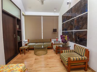 Restful bedroom with lounge in Central Udaipur