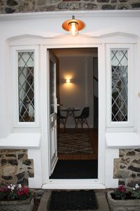Private entrance, front door into sitting room.