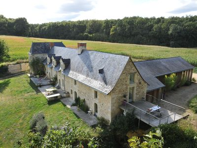 "Photo for The Gîte de ""Baillé"" in an old seigneury of the fifteenth, with heated pool"