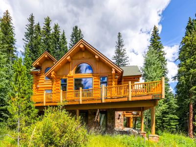 Photo for Custom Ski-in & Out Log Home on the 4 O'clock Run; Deck, Hot Tub & Fire Pit