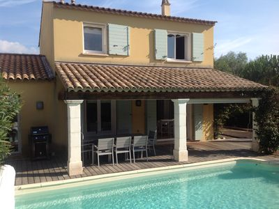 Photo for Elegant villa with heated pool, air conditioning, near St Tropez and beaches