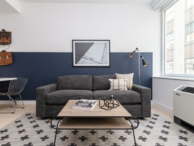 Photo for Sonder | Wall Street | Delightful 1BR + Sofa Bed