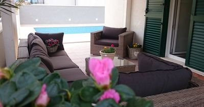 Photo for Villa by the sea(50m),heated pool,covered barbecue area,outdoor lounge area