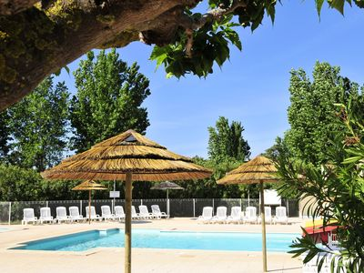 Photo for Camping Les Cigales *** - Tent 4 people - 4 places without sanitary trigano lagoon (between 6 and 10 years)