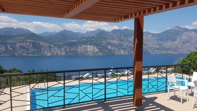 Photo for New apartment with superb view of the Garda Lake