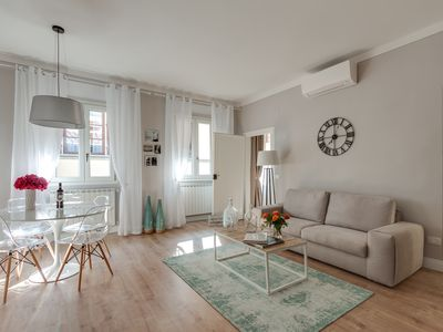 Photo for Contemporary feeling apartment with great view of the Duomo's Cupola .