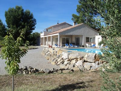 Photo for Exclusive luxury villa with private pool, full air-con, Wi-Fi, next to village