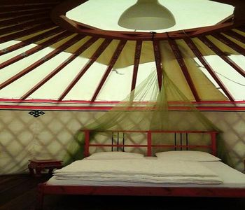 Photo for Camping du Viaduc ** - Yurt 6 People