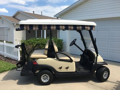 Complimentary 4 passenger GOLF cart included with your stay!