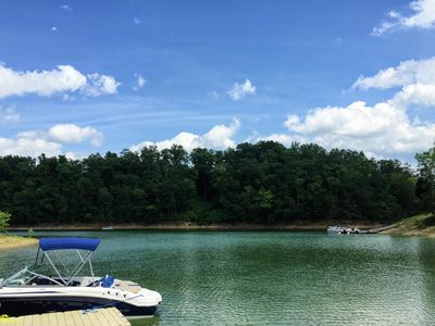 Photo for Spacious Lakefront home 8 acres Newly renovated for 2017 with new dock & hot tub