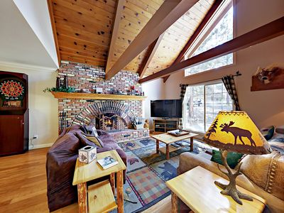 Photo for 3BR Chalet w/ Hot Tub & Game Room—Near Skiing & Dining, Walk to Lake