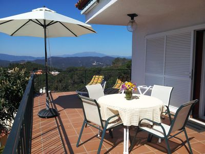 Photo for Pool Villa with exceptional sea views, mountain and Lloret de Mar