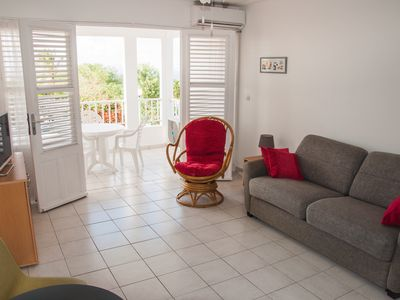 Photo for Beautiful studio in a small residence with swimming pool, panoramic sea  view