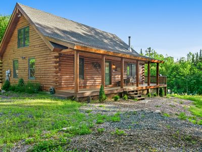 Photo for Charming & private cabin w/firepit & forest views!
