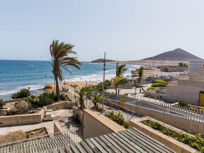 Photo for Spectacular beachy right on the ocean side : Casa Medano 15 with storage/garage