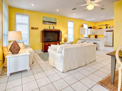 Photo for 4 Bedroom 3 Bath! Flat Screens! Walk to Beach and Pool! Pet Friendly
