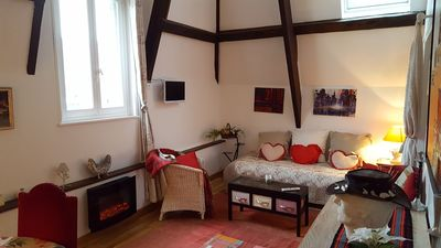Photo for Charming apartment in the center of Honfleur for 5 people near the port