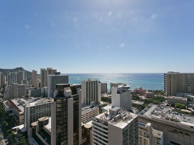 Photo for Beautiful Ocean & fireworks View Penthouse - Royal Kuhio 2 Bedroom  32nd Flr