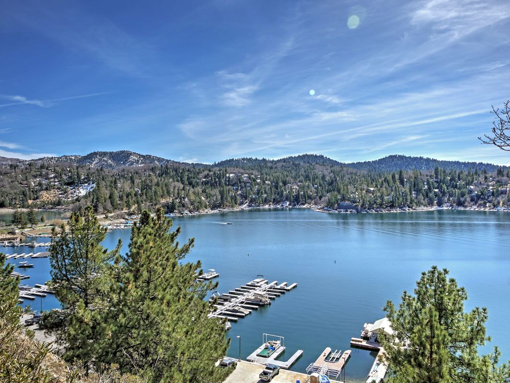 3br lake arrowhead house w lake access kayak blue jay for Lake arrowhead fishing