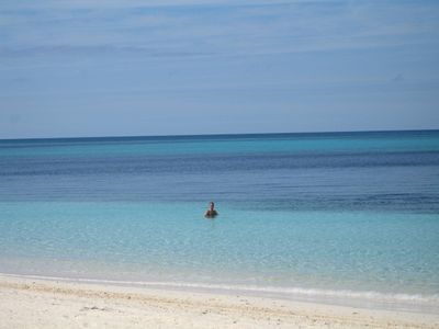Beautiful Turquoise Waters at our Private Beach
