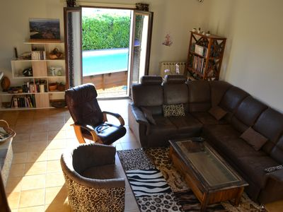 Photo for 2 private rooms in villa with exceptional panorama, near Nîmes and golfs
