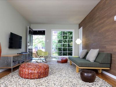 Photo for Venice Beachwood - Spacious midcentury-design furnished city suites with 2 bedrooms and full kitchen