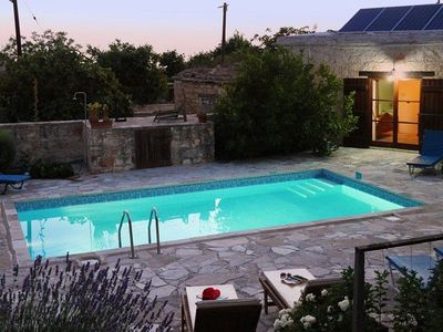 Photo for Traditional Stone Built Holiday Villa in Walled Courtyard with Private Pool