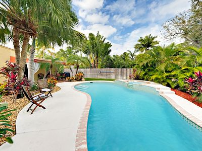 Photo for Las Olas Tropical Oasis w/ Pool & Spa - 10-Minute Walk to Shops & Dining!