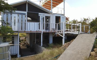 Three level container house