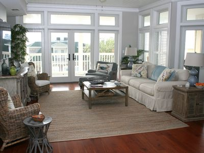 Photo for PENTHOUSE SUITE! Across the street from Beach! Ocean views!