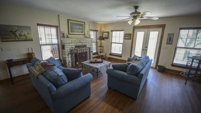 Photo for Kick Back On This Large Back Deck Overlooking The Blanco River!