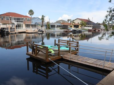 Photo for Water Front Direct Gulf Access Stilt House on Deep Water Canal
