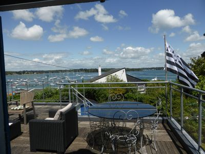 Photo for House with Gulf of Morbihan view, direct access to the port, large garden