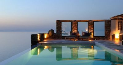Photo for Romantic villa with an infinity swimming pool and a fantastic sea view.