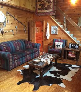Photo for American Indian Decorated Log Cabin On Toccoa River Awaits Your Arrival!