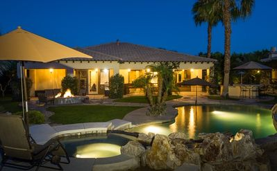 Photo for Luxurious Home w/ Fire Pit, Outdoor Kitchen, Heated Pool & Spa and More