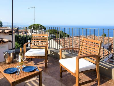 Photo for Villa - Near Etna w/ Terrace w/ Sea View up to Taormina! - free wifi, Ntflx, BBQ