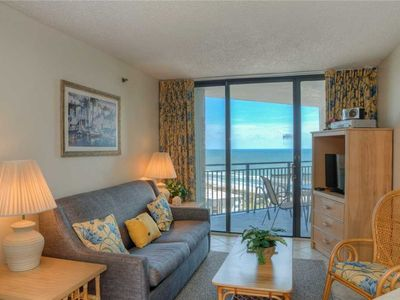 Photo for Quaint Ocean View Condo! Beach Front Building! Indoor/Outdoor Pool!