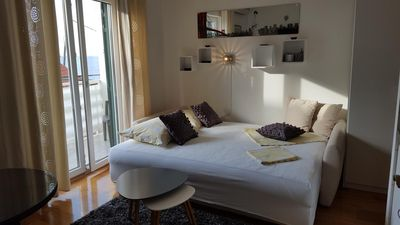 Photo for Studio flat with balcony and sea view Gradac, Makarska (AS-15642-b)