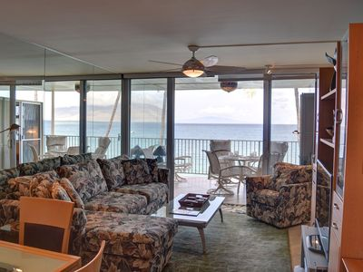 Photo for Oceanfront Condo at Royal Mauian within Steps to Beach, Shops, and Restaurants