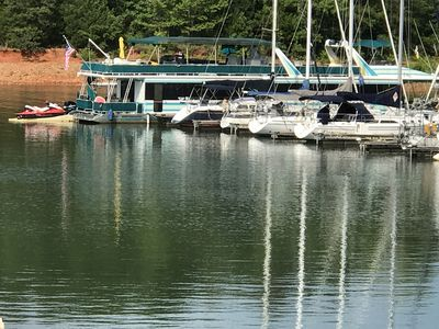 Photo for Houseboat 88 ft Big Water Marina Lake Hartwell SC