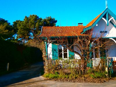 Photo for Villa Clarté in Cap Ferret, village Piraillan, sea view, beach 20 meters