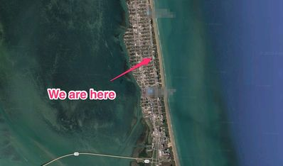 Our location next to the beach