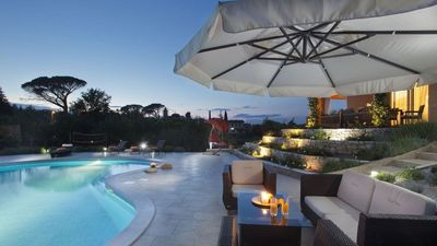 Photo for DISCOUNT Jul 2-13, 11 nights, villa with private heated pool, steam bath
