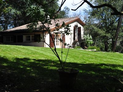 Photo for cottage prox. Carcassonne and Montolieu. Park with river and private lake.