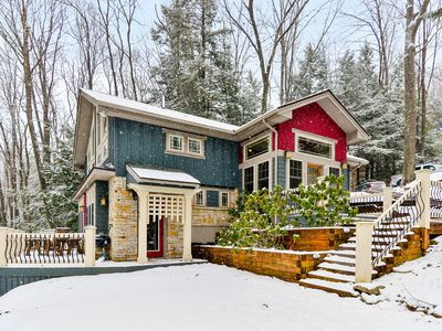 Photo for Charming lake house w/ private hot tub & great views from the deck - dogs OK!